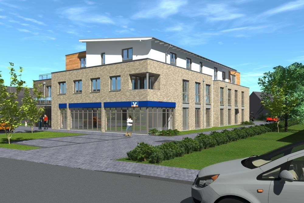 Immobilie Bönningstedt - Neubau - Mietbeginn 2. Quartal 2022 4 Zimmer Dachterrassenwohnung in zentraler Lage von Bönningstedt